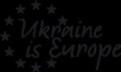 Принт Женская майка Ukraine in Europe - FatLine