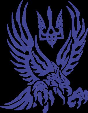 Принт Подушка Птах та герб - FatLine