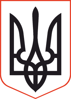 Принт Майка-тельняшка Герб України з рамкою - FatLine