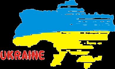 Принт Подушка Карта України з написом Ukraine - FatLine