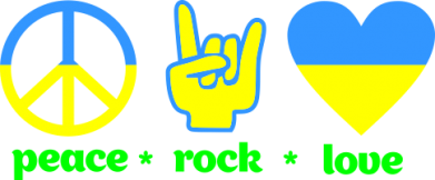Принт Коврик для мыши Peace, Rock, Love - FatLine