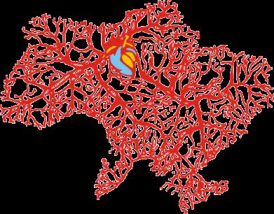 Принт Фартук Карта України з серцем - FatLine