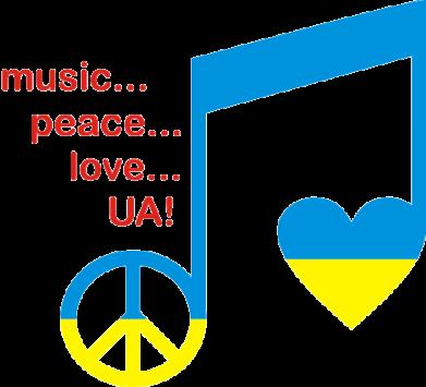 Принт Подушка Music, peace, love UA - FatLine