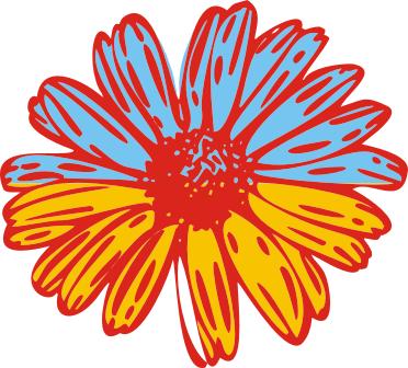Принт Коврик для мыши Українська квітка - FatLine