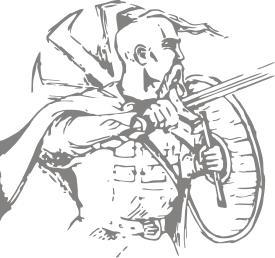 Принт Коврик для мыши Козак з щитом - FatLine