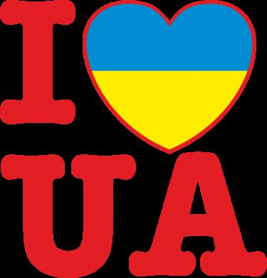 Принт Реглан I love UA - FatLine