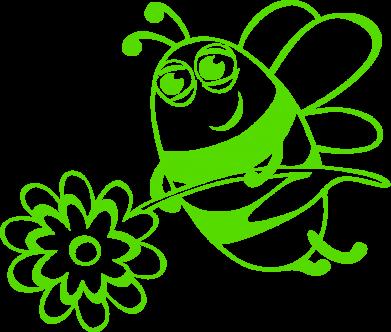Принт Женская толстовка Добрая пчелка - FatLine