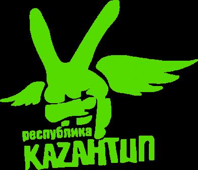 Принт Женская футболка с V-образным вырезом Республика Казантип - FatLine