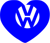 Принт Наклейка Love Volkswagen - FatLine