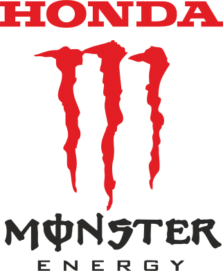 Принт Подушка Honda Monster Energy - FatLine