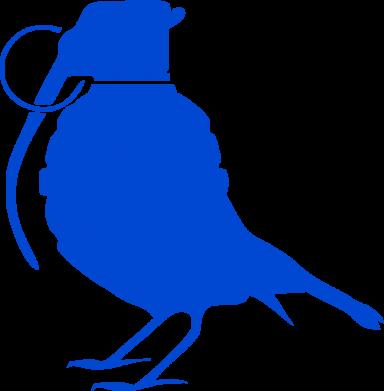 Принт Сумка Птичка с гранатой - FatLine