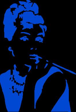 Принт Сумка Девушка красит губы - FatLine