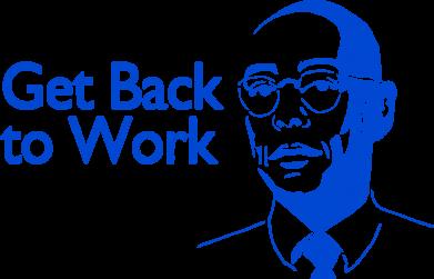 Принт Подушка Get Back To Work - FatLine