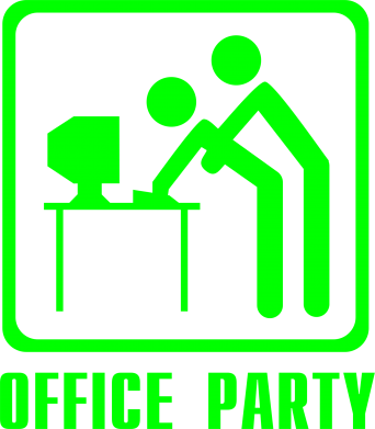 Принт Женская майка Office Party - FatLine