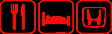 ����� ������� ����� Eat Sleep Honda - FatLine