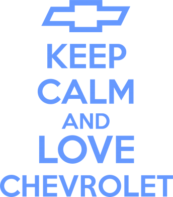����� ��������� KEEP CALM AND LOVE CHEVROLET - FatLine