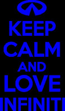 Принт Футболка Поло KEEP CALM and LOVE INFINITI - FatLine