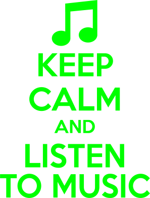 ����� �������� ���� KEEP CALM and LISTEN TO MUSIC - FatLine