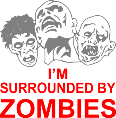 ����� ������� �������� ���� I'm surrounded by zombies - FatLine