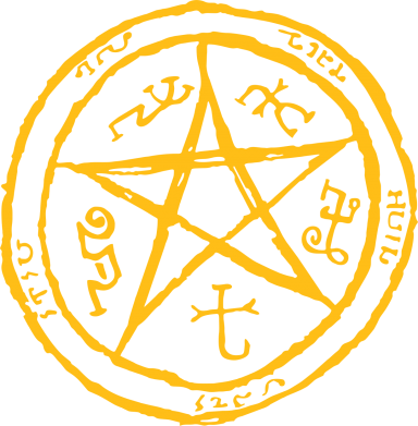 Принт Толстовка Оккультный символ Сверхъестественное - FatLine