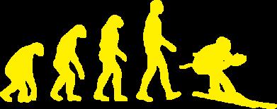 Принт Футболка с длинным рукавом Ski evolution - FatLine