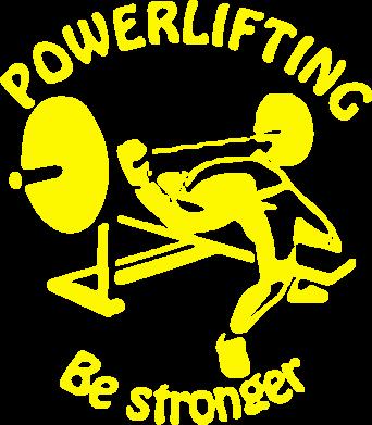Принт Женская толстовка Powerlifting be Stronger - FatLine