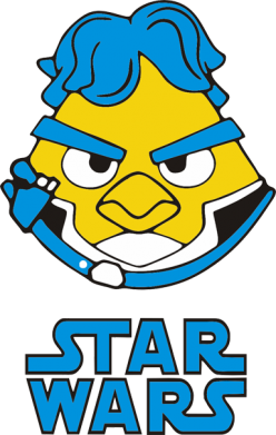 Принт Толстовка Angry Birds Star Wars 1 - FatLine