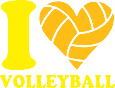 Принт Подушка I love volleyball - FatLine