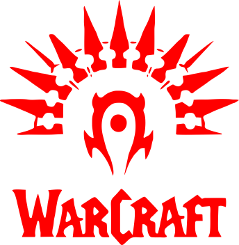 ����� �������� � ������� ������� WarCraft Logo - FatLine