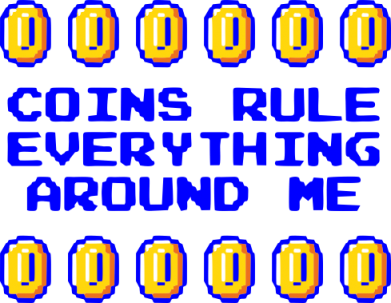 Принт Коврик для мыши Coins rule everything around me - FatLine