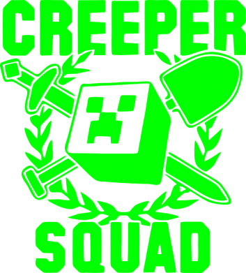 Принт Женская толстовка Creeper Squad - FatLine