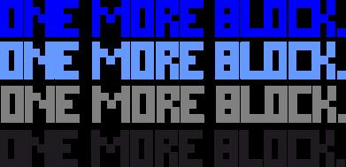 Принт Футболка One more block - FatLine