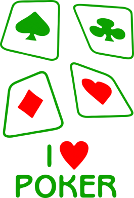 Принт Футболка Поло I love poker - FatLine