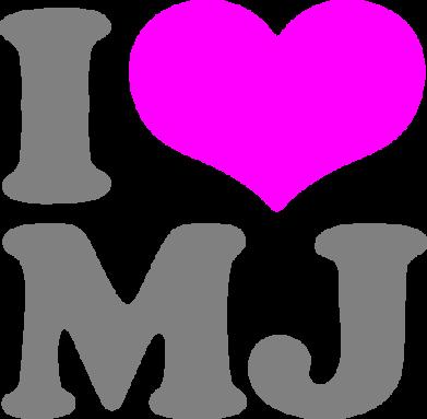 Принт Мужская майка I love MJ - FatLine