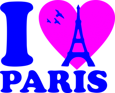Принт Толстовка I love Paris - FatLine
