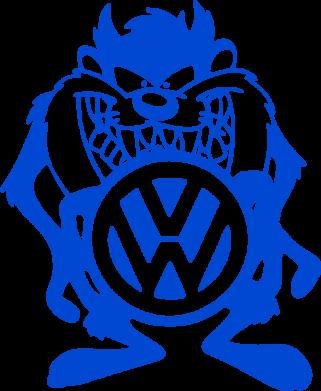 Принт Футболка Тасманский дьявол Volkswagen - FatLine