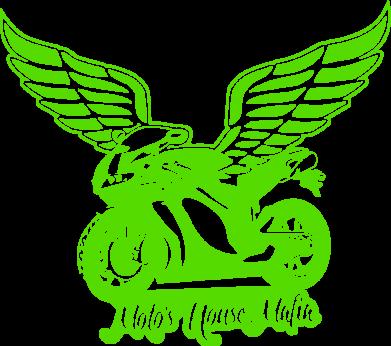 Принт Женская майка Байк с крыльями - FatLine