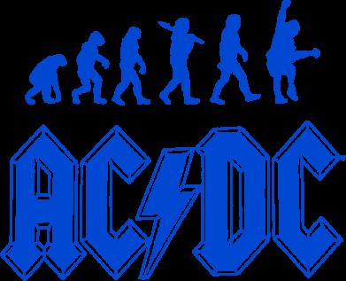 Принт Подушка Эволюция AC\DC - FatLine