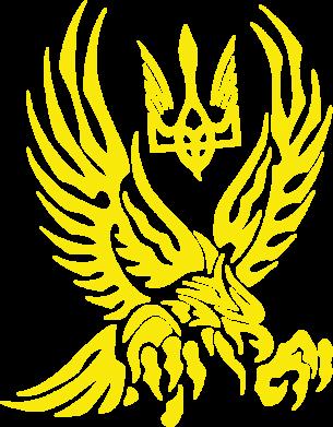 Принт Футболка Поло Птах та герб - FatLine
