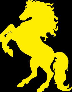 Принт Тельняшка с длинным рукавом Конь - FatLine