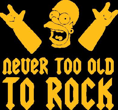 Принт Женская майка Never old to rock (Gomer) - FatLine