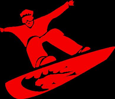 Принт Коврик для мыши Snow Board - FatLine