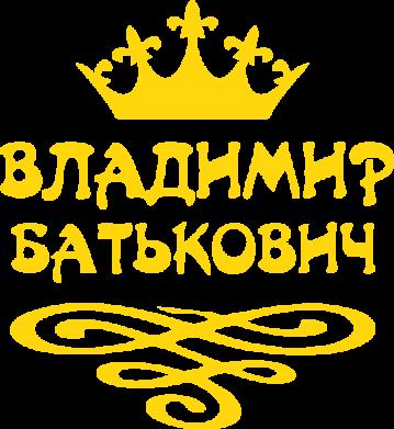 Принт Мужская футболка  с V-образным вырезом Владимир Батькович - FatLine