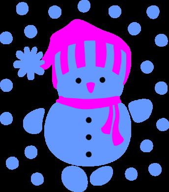 Принт Коврик для мыши Снеговик в шапке - FatLine