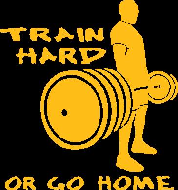 Принт Мужская майка Train Hard or Go Home - FatLine