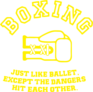 Принт Футболка Boxing just like ballet - FatLine