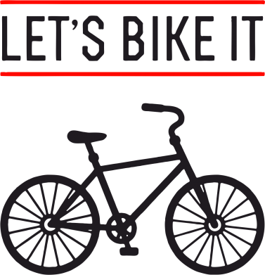 Принт Толстовка Let's Bike It - FatLine