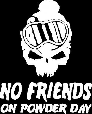 Принт Мужская футболка  с V-образным вырезом No friends on powder day - FatLine