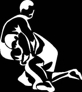 Принт Мужская толстовка на молнии Захват в борьбе - FatLine