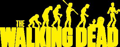 Принт Женская футболка с V-образным вырезом The Walking Dead Evolution - FatLine